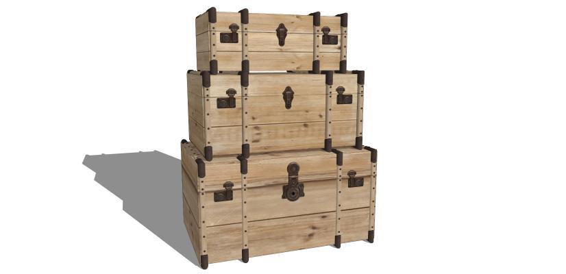 木箱SU模型【ID:244023341】