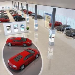 现代汽车销售展厅3D模型【ID:934738710】