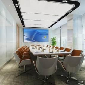 现代办公会议室3D模型【ID:944228134】