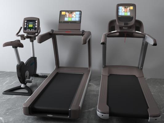 現代跑步機3D模型【ID:333738868】