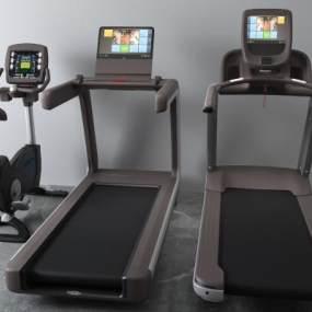 现代跑步机3D模型【ID:333738868】