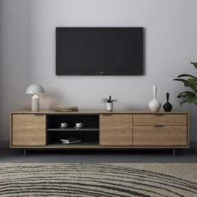 現代電視柜飾品3D模型【ID:934752930】