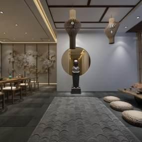 新中式茶馆茶室3D模型【ID:643048627】