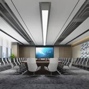 現代會議室3D模型【ID:944160126】