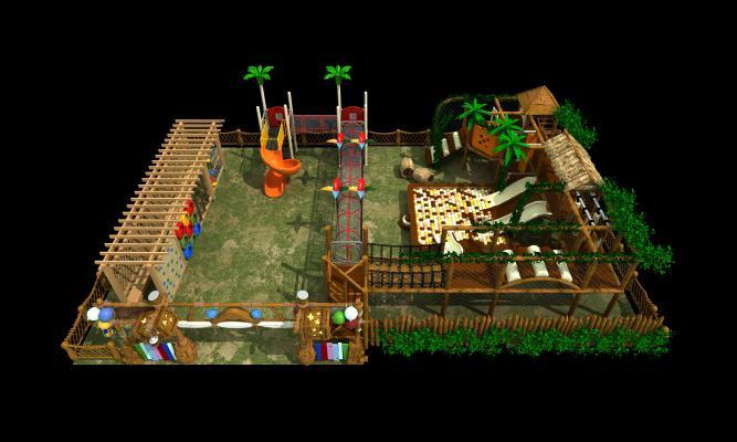 传统中式游乐设备3D模型【ID:435486112】