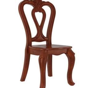 欧式餐椅3D模型【ID:732350181】