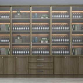 现代酒柜3D模型【ID:633776244】