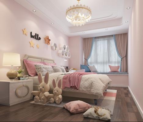 現代兒童房3D模型【ID:544649759】