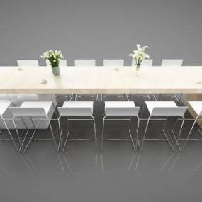 现代风格餐桌3D模型【ID:850603826】