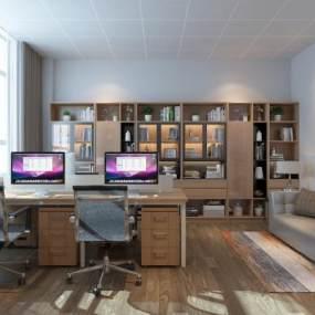 现代办公室3D模型【ID:952137059】