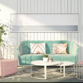 現代沙發3D模型【ID:648989755】
