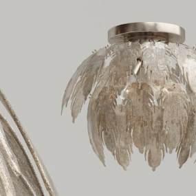 现代玻璃吸顶灯3D模型【ID:833708019】