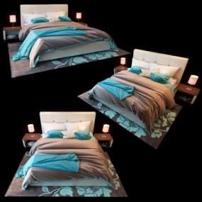 现代床具组合3D模型【ID:832716701】