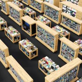 現代書店配套3D模型【ID:950229840】