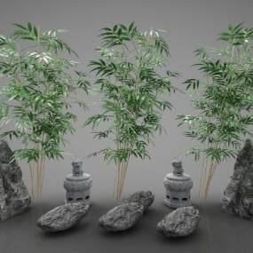 新中式園林景觀小品3D模型【ID:244149825】