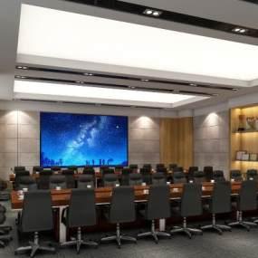 现代风格大会议室3D模型【ID:948315106】