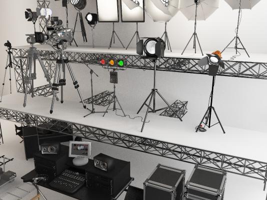 現代攝影棚3D模型【ID:946445916】
