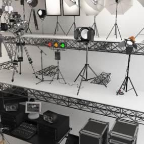 现代摄影棚3D模型【ID:946445916】