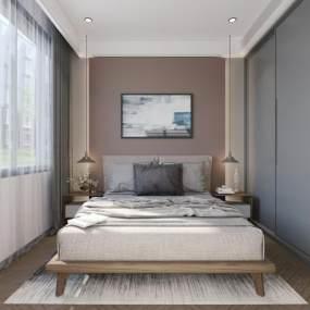 现代卧室整体3D模型【ID:533263217】