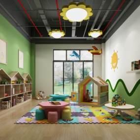 现代儿童游乐活动室3D模型【ID:944374691】