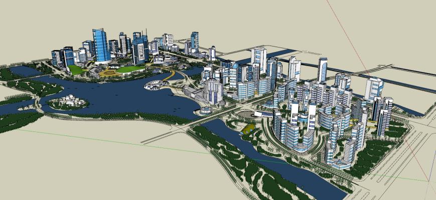 現代城市規劃SU模型【ID:347184077】