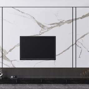 現代電視柜3D模型【ID:949097944】