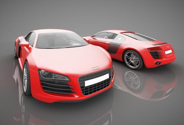 現代風格小汽車3D模型【ID:441859715】
