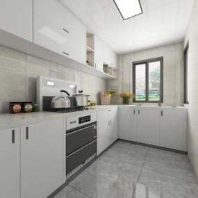 現代廚房3D模型【ID:548093359】