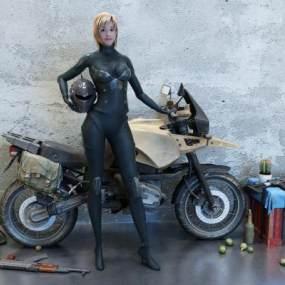 现代摩托车3D模型【ID:432837784】
