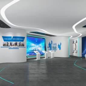 现代自贸区展厅3D模型【ID:952550760】