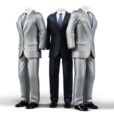 现代西服3D模型【ID:332534002】