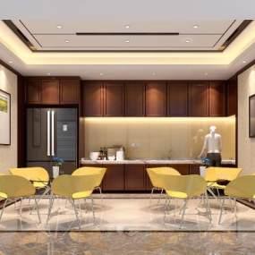 现代茶吧3D模型【ID:934783439】