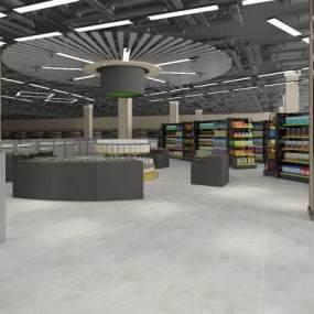 超市大厅3D模型【ID:142477112】