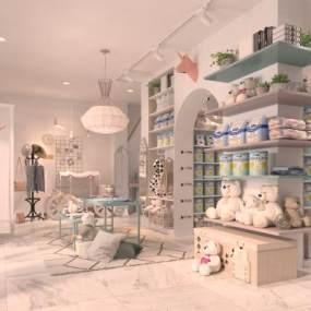 现代母婴代购店3D模型【ID:934702886】