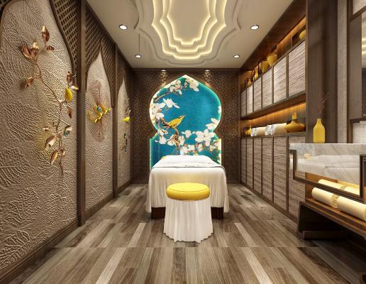 東南亞美容館spa會所養生會所3D模型【ID:833107278】