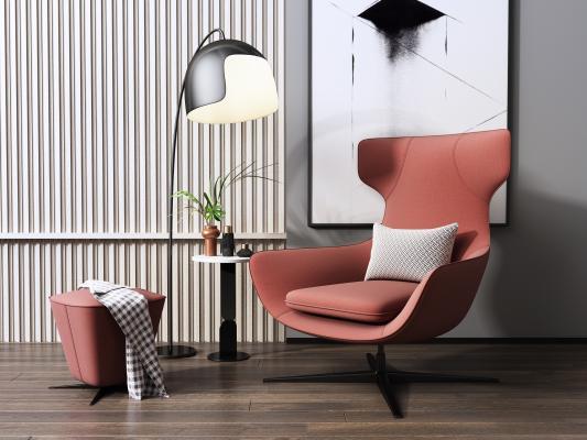 現代休閑椅3D模型【ID:752272048】