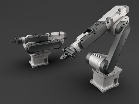 工業風自動化機械手3D模型【ID:436217305】