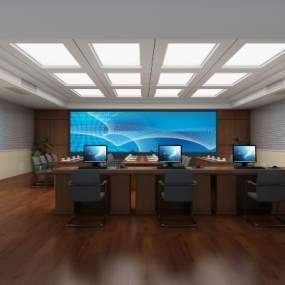 指挥中心,会议室 3D模型【ID:940636128】