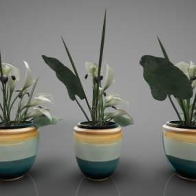 新中式風格裝飾品擺件3D模型【ID:243950562】