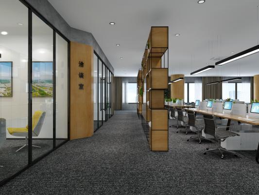 工业风格LOFT开敞办公室