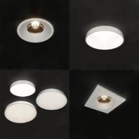 现代筒灯3D模型【ID:843120355】
