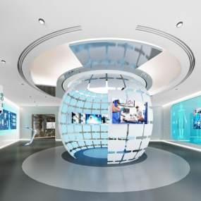 现代医疗展厅3D模型【ID:952174713】