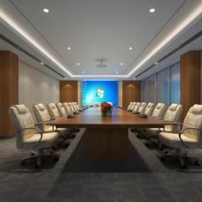 現代會議室3D模型【ID:934816137】