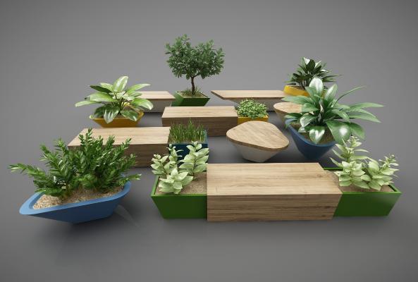 現代風格植物3D模型【ID:248854599】