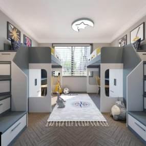 现代儿童房整体3D模型【ID:533263720】