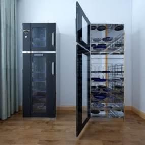 现代消毒柜碗柜3D模型【ID:233497624】