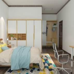 现代宿舍3D模型【ID:931218451】
