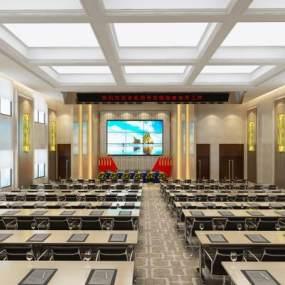 现代大会议室3D模型【ID:949235147】