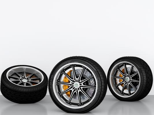現代輪胎3D模型【ID:435617317】