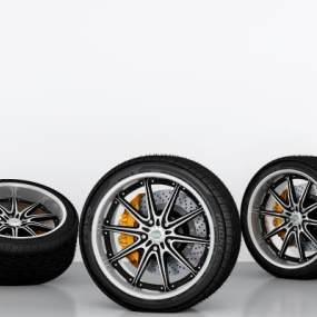 现代轮胎3D模型【ID:435617317】